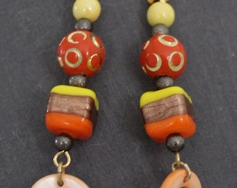 jewelry, Orange earrings