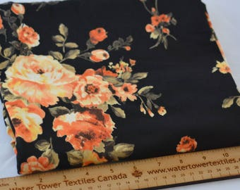 Single Brushed Polyester Spandex, Autumn Bouquet – 1/2 meter