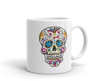 Day of the Dead Sugar Skull Dia De Los Muertos Mug