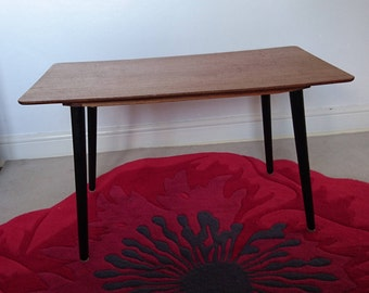 Vintage, mid century, coffee table or occasional table with dansette legs