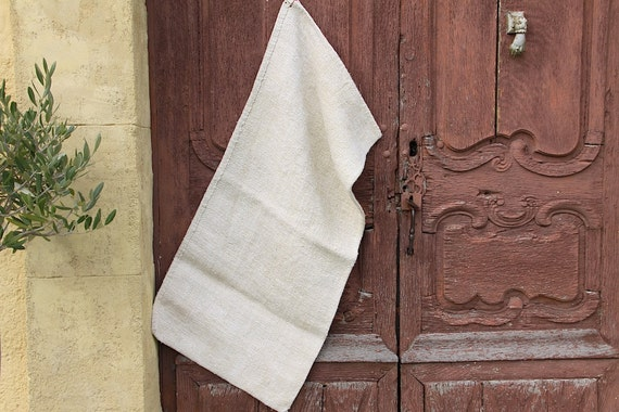 French Antique Hemp Linen Grain Sack, Heavy Weight Fabric Herringbone  Weave, Hand Woven, Upholstery Fabric, Table Runner From Maintenant On Etsy  Studio