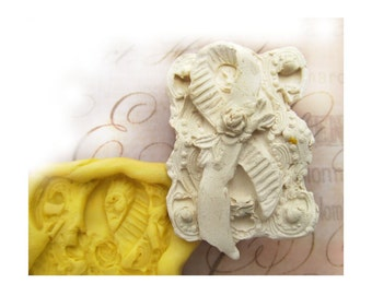 Breast Cancer mold,  silicone mold ,  Western mold  -  craft mold - food mold - push mold - soap mold - - # 58