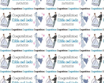 Personalised Wrapping Paper Wedding Engagement Gift Wrap