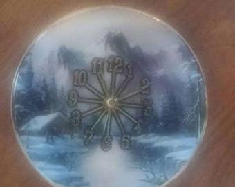 Mountain Scenic Clock Plate -