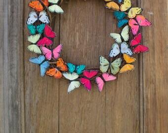 Spring Wreath, Butterfly Wreath, Butterfly, Summer Wreath, Colorful Wreath, Butterfly Decor, Front Door Wreath, Door Decor, Butterfly Gift