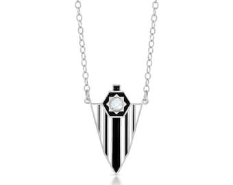 Starburst Enamel Shield Necklace