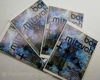 Bar Mitzvah cards - package of 4