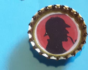 Recycled Bottle Cap Brooches