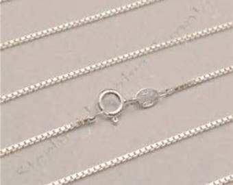 16 inch 030 sterling silver box chain set of 2