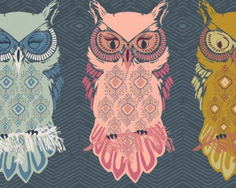Art Gallery - Nightfall Collection - Bird of Night in Slate
