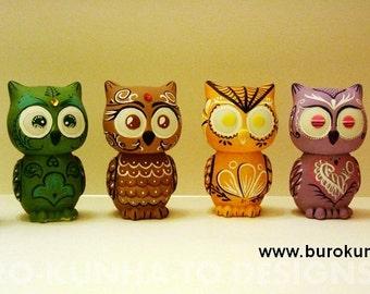 Custom Owls Mini Doll Day of The Dead (Dia De Los Muertos)