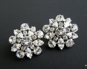 Swarovski crystal Bridal Earrings Chandelier Earrings stud Rhinestone Earrings Wedding Crystal Earrings Statement Bridal Earrings SAVANNAH