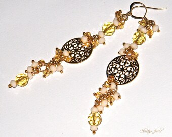 Monachella Earrings with crystals