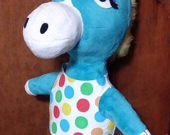 Custom Made Animal Crossing Ed the Horse Plush