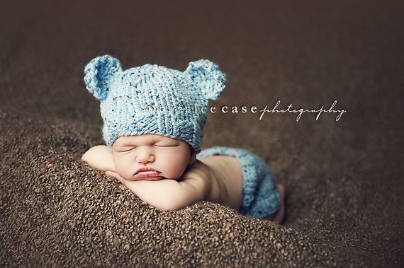 Download Pdf Knitting Pattern K 03 Knit Newborn Baby Bear Hat And