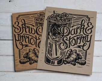Dark & Stormy -  Block Print