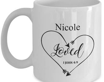 Love Mug  - Scripture mug - Holiday Gift Idea - Custom Coffee Mug  Christmas Gift - Holiday Gift  Exchange