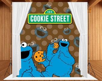 Cookie Monster Backdrop