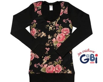 for Xsmall women, flowers, long sleeve sweater