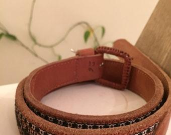 Aztec pattern vintage belt