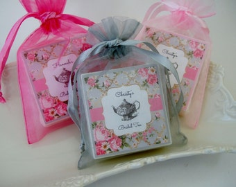Tea Party, Bridal Shower Favors, Baby shower favors,  set of 25, Tea Party Favors, soap favors