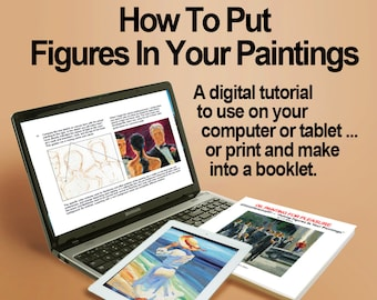 How To Put Clothed Figures In Your Paintings! A Digital Art Instruction Tutorial for Beginners and All Skill Levels.