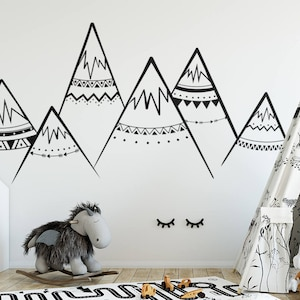 Mountain wall decal | Etsy