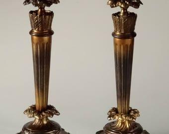 Louis XVI Style Candlesticks Original Bobeches