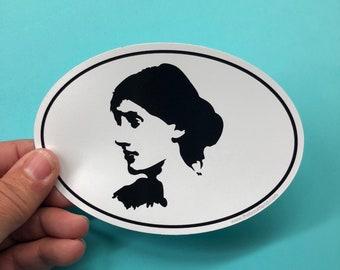 Virginia Woolf vinyl sticker