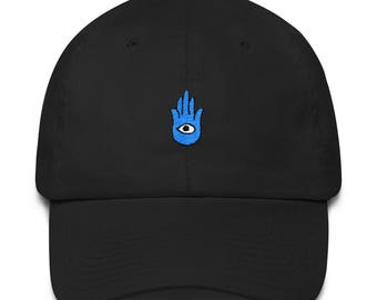 Hamsa Hand Dad Hat  Boho Dad Hat  Psychedelic Dad Hat  Festival Outfit  Hippy Dad Hat  Cotton Cap