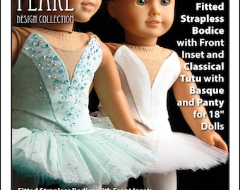 Prima ballerina etsy lp 1073 prima ballerina strapless bodice and classical pancake tutu with basque and panty dance performance pattern for 18 inch dolls ccuart Choice Image