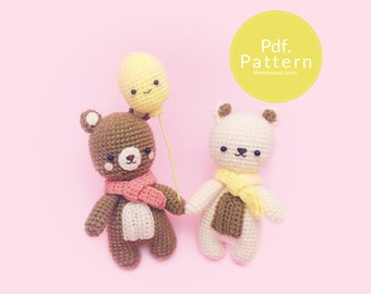 PDF. PATTERN - A Cozy Bear,  Amigurumi pattern, Crochet pattern, Dollhouse pattern.