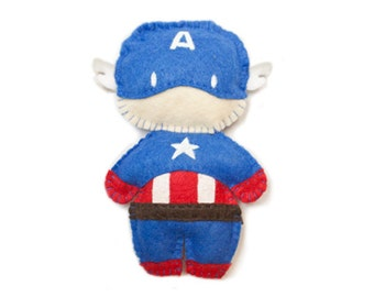 Felt Captain America Plushie Made to Order