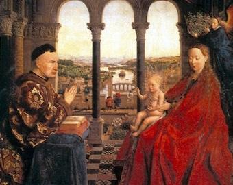 """Set de table plastifié Van Eyck """"La Vierge du Chancelier Rolin"""""""