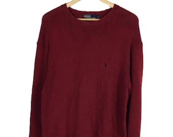 Polo by Ralph Lauren small pony red knitwear sweater / jumper / polo sport / polo sweater