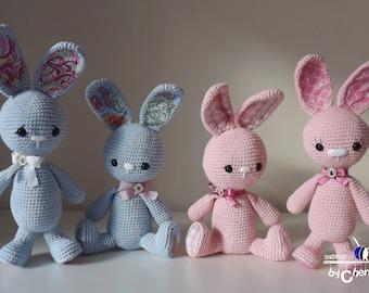 Easter Bunny PATTERN - Long-ear bunny - Crochet pattern - Rabbit crochet pattern -amigurumi pattern, PDF