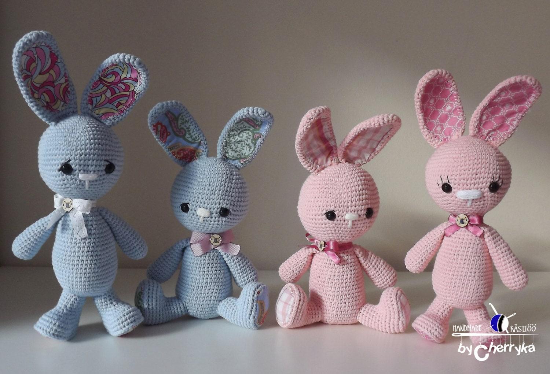 Easter Bunny PATTERN Long-ear bunny Crochet pattern
