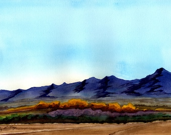 "franklin mountains : GICLEE PRINT  11""X14"""