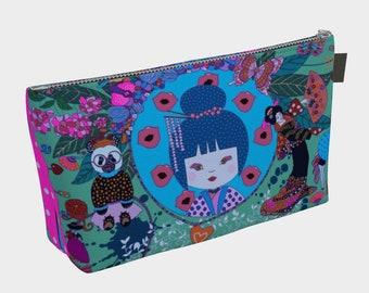 """Makeug Bag """"Coco""""/by Lucrezia Solena/Cute Fashionista/ pencil case/makeup/camera/ruler/tools/painting/original design"""