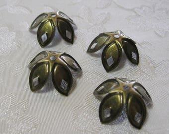 Antique Bronze Filigree Bead Caps 18mm 322-AB