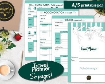 Printable Travel Planner, Vacation Planner, Travel Planner, Travel Itinerary, Travel Printable, Vacation Planner