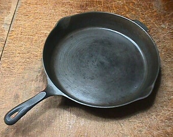 Wagner 1891 Cast Iron Skillet  13 3/4 inches Cleaned, and Seasoned, and Ready to Use as-is