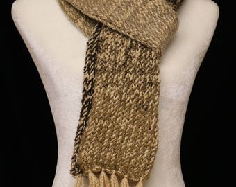 Handmade Knitted Scarf  Camel