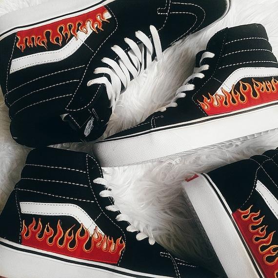 scarpe vans con fiamme