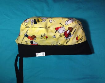Reversible Snoopy Baseball Surgical Scrub Cap