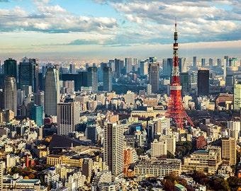 Japan - Tokyo - Tokyo Tower with skyline - SKU 0050