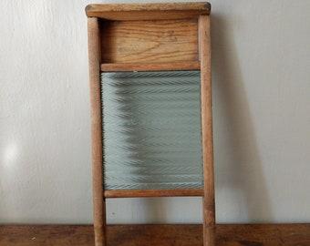 Antique Washboard - Glass Lingerie Board - Vintage Washboards