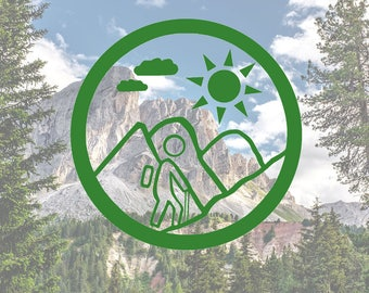 Vinyl Decal - Hiking Decal - Backpacking - Car Decal - Laptop Decal - iPad Decal - Window Decal - Vinyl Sticker - Bumper Sticker