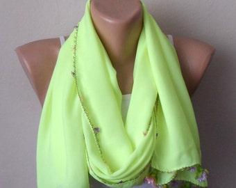 yellow phosphorous scarf turkish scarf yellow yemeni scarf trendy scarf fashion accessories shawls gift for her