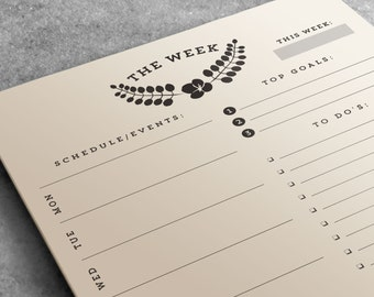 Weekly Planner Notepad | To Do List Desk Pad | Desk Pad Organizer | Teacher Gift